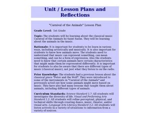 Carnival of the animals Lesson Plan