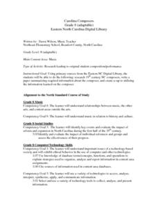 Carolina Composers Lesson Plan