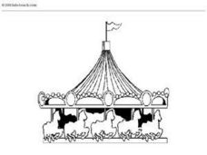 Carousel Coloring Worksheet