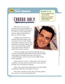 Carson Daly: Fact/Opinion Worksheet