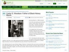 Carter G. Woodson: Father of Black History Month Lesson Plan