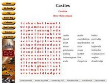 Castles Word Search Worksheet
