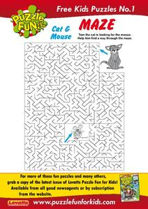 Cat and Mouse Maze Worksheet