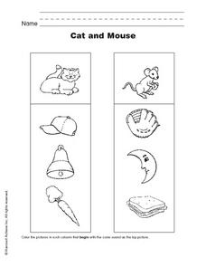 Cat and Mouse Worksheet