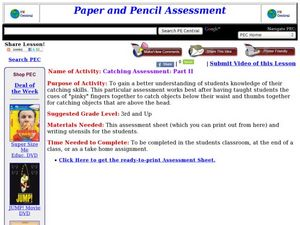 Catching Assessment: Part II Lesson Plan