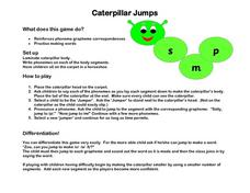 Caterpillar Jumps Worksheet