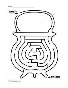 Cauldron Maze Worksheet