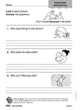 Cause and Effect: New Best Friends Worksheet