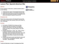Causes and Effects of the Spanish-American War Lesson Plan