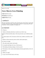 Cave Men to Cave Painting Lesson Plan
