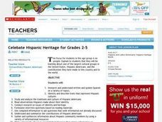Celebate Hispanic Heritage for Grades 2-5 Lesson Plan