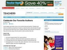 Celebrate Our Favorite Authors Lesson Plan