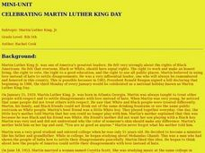 Celebrating Martin Luther King Day Lesson Plan