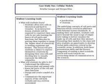 Cellular Models Lesson Plan
