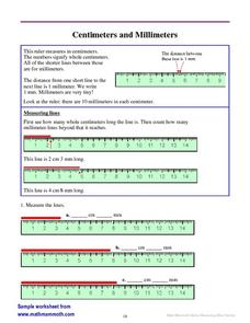 Centimeters and Millimeters Worksheet