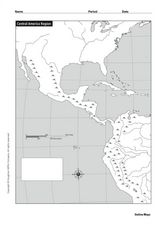 Central America Region: Physical Map Worksheet