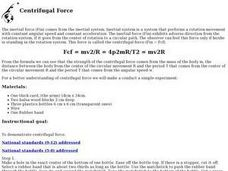 Centrifugal Force Lesson Plan