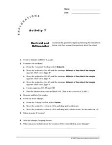 Centroid and Orthocenter Lesson Plan