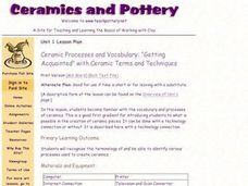 Ceramic Processes and Vocabulary Lesson Plan