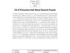 Ch 9 Princeton Hall Word Search Worksheet