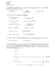 Challenge Sheet 6:  Fractions Decomposition Worksheet