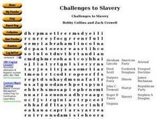 Challenges to Slavery Worksheet