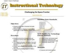 Challenging the Space Frontier Lesson Plan