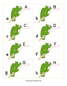 Chameleon Alphabet Worksheet