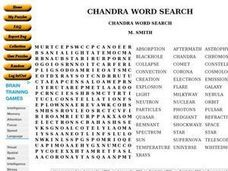 Chandra Word Search Worksheet