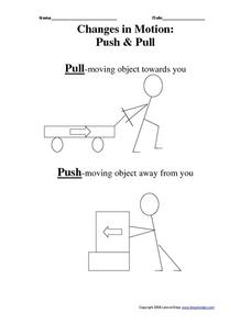 Worksheet Push And Pull Worksheets changes in motion push pull 3rd 4th grade worksheet lesson worksheet