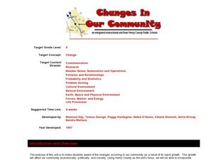 Changes in Our Community Lesson Plan