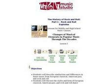 Changes of Musical Elements in Popular Music Through the Decades Lesson Plan