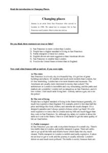 Changing Places Worksheet