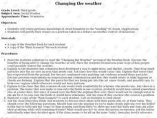 CHANGING THE WEATHER Lesson Plan