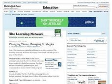 Changing Times, Changing Strategies Lesson Plan