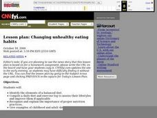 Changing unhealthy eating habits Lesson Plan