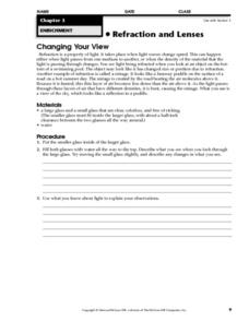Changing Your View Worksheet