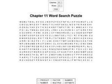 Chapter 11 Word Search Puzzle Worksheet