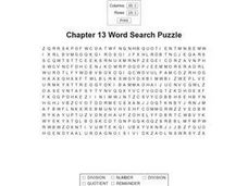 Chapter 13 Word Search Puzzle Worksheet