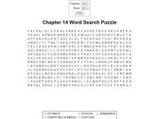 Chapter 14 Word Search Worksheet