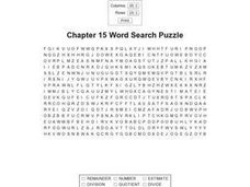 Chapter 15 Word Search Puzzle Worksheet