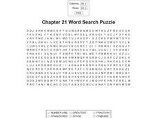 Chapter 21 Word Search Worksheet