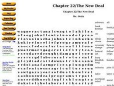 Chapter 22/The New Deal Worksheet