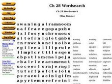 Chapter 28 Wordsearch Worksheet