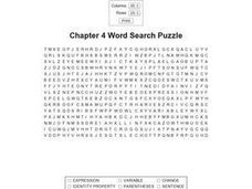 Chapter 4 Word Search Worksheet