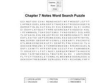 Chapter 7 Notes Word Search Worksheet