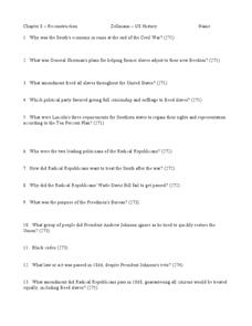 Printables Reconstruction Worksheets chapter 8 reconstruction 9th 12th grade worksheet lesson planet worksheet