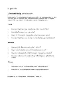 Chapter 9 Summary Worksheet