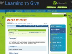 Character Education: Caring- Oprah Winfrey Lesson Plan
