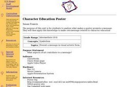 Character Education Poster Lesson Plan